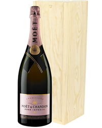 Moet Rose Champagne Magnum 150cl in Wooden Gift Box