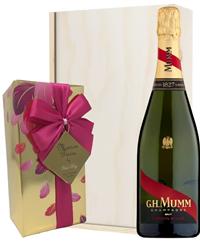 Mumm Champagne & Belgian Chocolates...