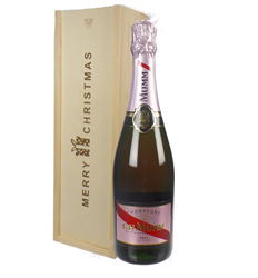 Mumm Rose Champagne Single Bottle Christmas Gift In Wooden Box