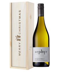 New Zealand Sauvignon Blanc White Wine Single Bottle Christmas Gift In Wooden Box