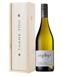 New Zealand Sauvignon Blanc White Wine Thank You Gift In Wooden Box