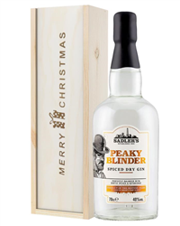 Peaky Blinder Gin Christmas Gift In Wooden Box