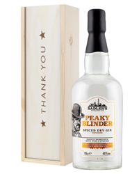 Peaky Blinder Spiced Dry Gin Thank You Gift In Wooden Box