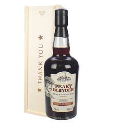 Peaky Blinder Spiced Rum Thank You Gift In Wooden Box