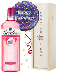 Pink Gin and Balloon Birthday Gift