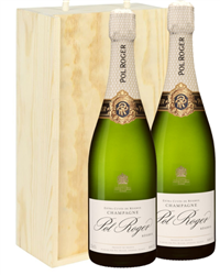 Pol Roger Two Bottle Champagne Gift...