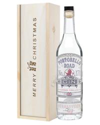 Portobello Road Gin Christmas Gift In Wooden Box