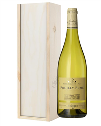 Pouilly Fume White Wine Gift in Wooden Box