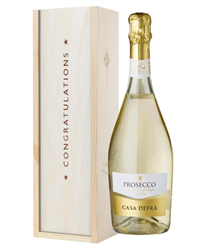 Prosecco Congratulations Gift In Wooden Box