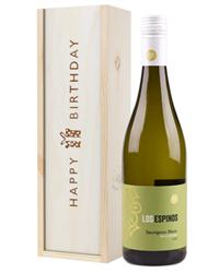 Sauvignon Blanc Chilean White Wine Birthday Gift In Wooden Box
