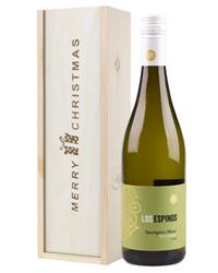 Sauvignon Blanc Chilean White Wine Single Bottle Christmas Gift In Wooden Box