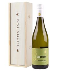 Sauvignon Blanc Chilean White Wine Thank You Gift In Wooden Box