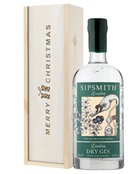 Sipsmith Gin Christmas Gift In Wooden Box