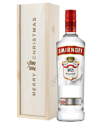 Smirnoff Red Label Vodka Christmas Gift In Wooden Box