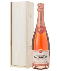 Taittinger Rose Champagne Gift in W...