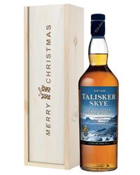 Talisker Skye Single Malt Whisky Christmas Gift In Wooden Box