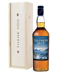Talisker Skye Single Malt Whisky Thank You Gift In Wooden Box