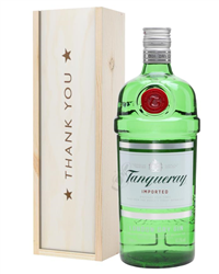 Tanqueray London Dry Gin Thank You Gift In Wooden Box
