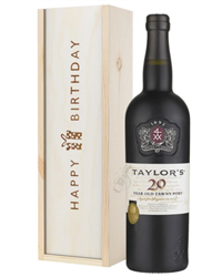 Taylors 20 Year Old Port Birthday Gift In Wooden Box