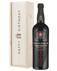 Taylors First Reserve Port Birthday Gift In Wooden Box