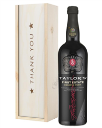Taylors First Reserve Port Thank You Gift In Wooden Box