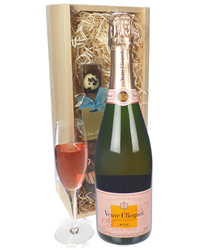 Veuve Clicquot Rose Champagne and C...