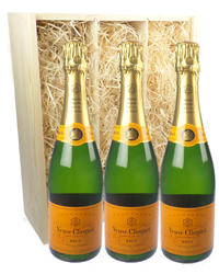 Veuve Clicquot Three Bottle Champag...
