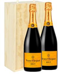 Veuve Clicquot Two Bottle Champagne...