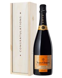 Veuve Clicquot Vintage Champagne Congratulations Gift In Wooden Box