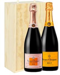 Veuve NV and NV Rose Two Bottle Cha...
