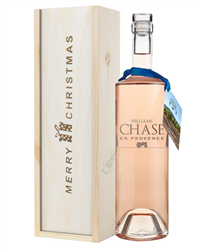 Williams Chase Rose Wine Single Bottle Christmas Gift In Wooden Box