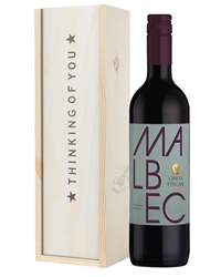 Wine Thinking of You Gift - Argentinian Malbec Red Wine