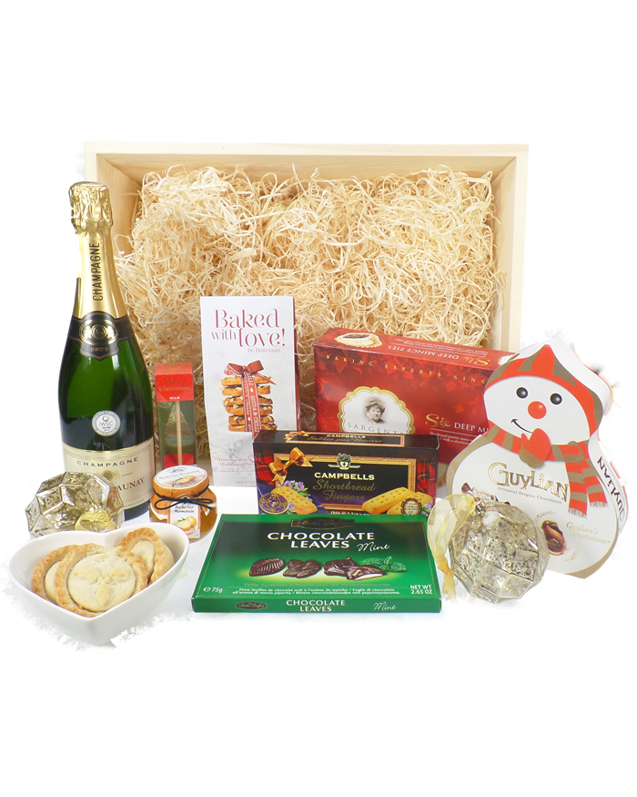 Sparkling Christmas Wooden Gift Tray