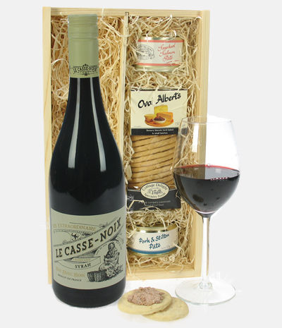 French Syrah Wine And Pate Gift