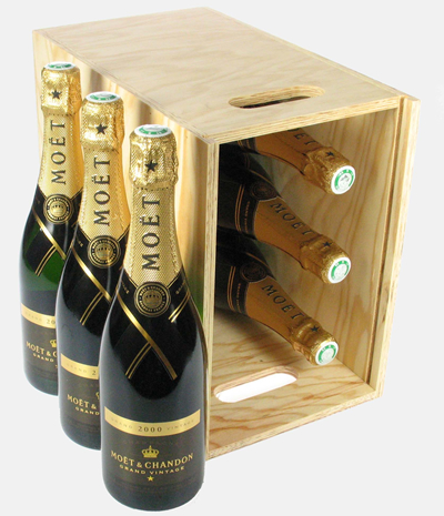 Moet Vintage Six Bottle Crate