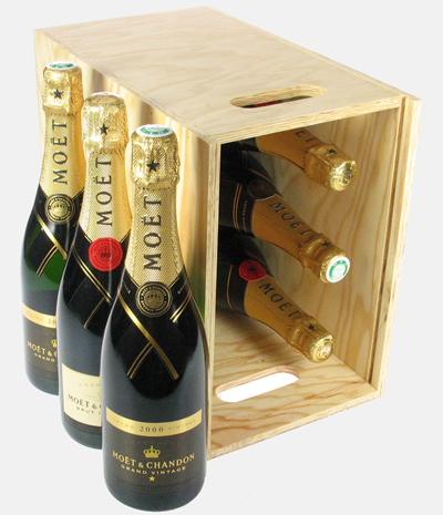 Moet NV and Moet Vintage Six Bottle Crate