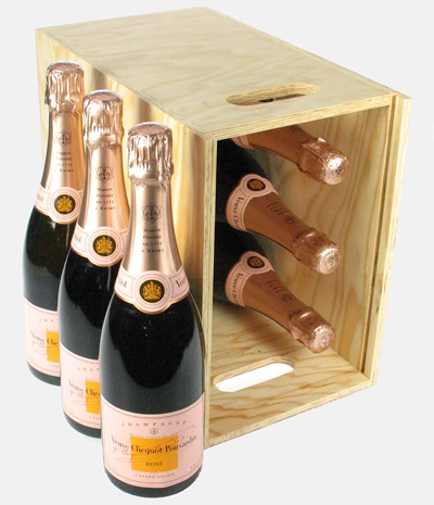 Veuve Clicquot Rose Six Bottle Crate