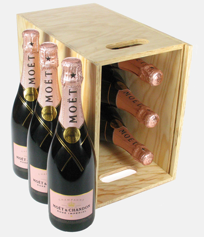 Moet et Chandon Rose Six Bottle Crate