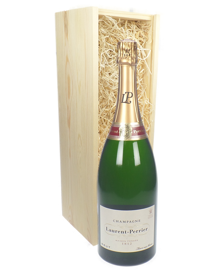 laurent perrier champagne magnum 150cl in wooden gift box price inc next day delivery. Black Bedroom Furniture Sets. Home Design Ideas