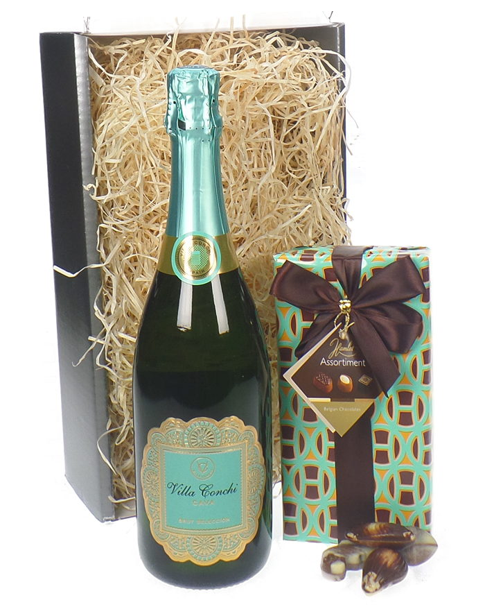 Cava And Chocolates Gift