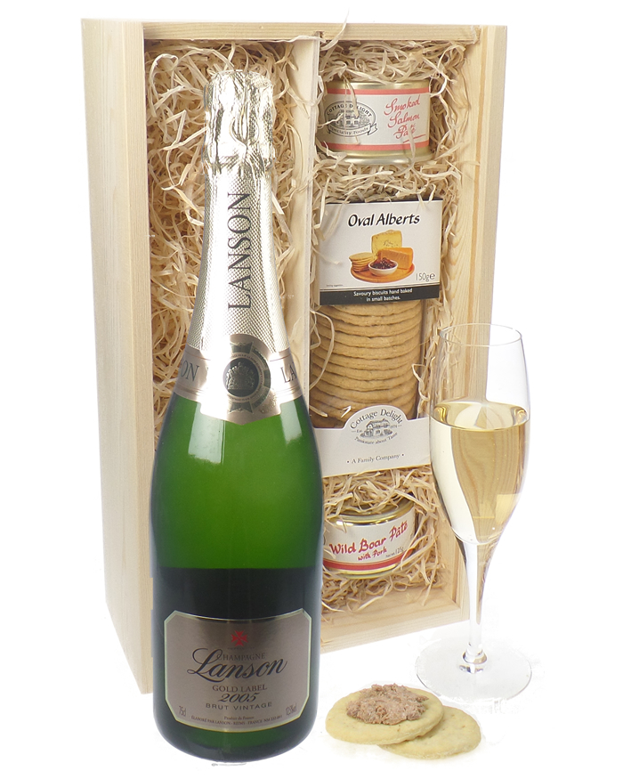 Lanson Gold Label Champagne and Pate Gift