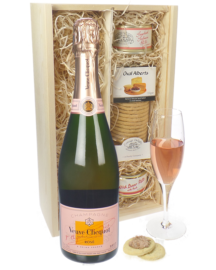 Veuve Clicquot NV Rose Champagne and Pate