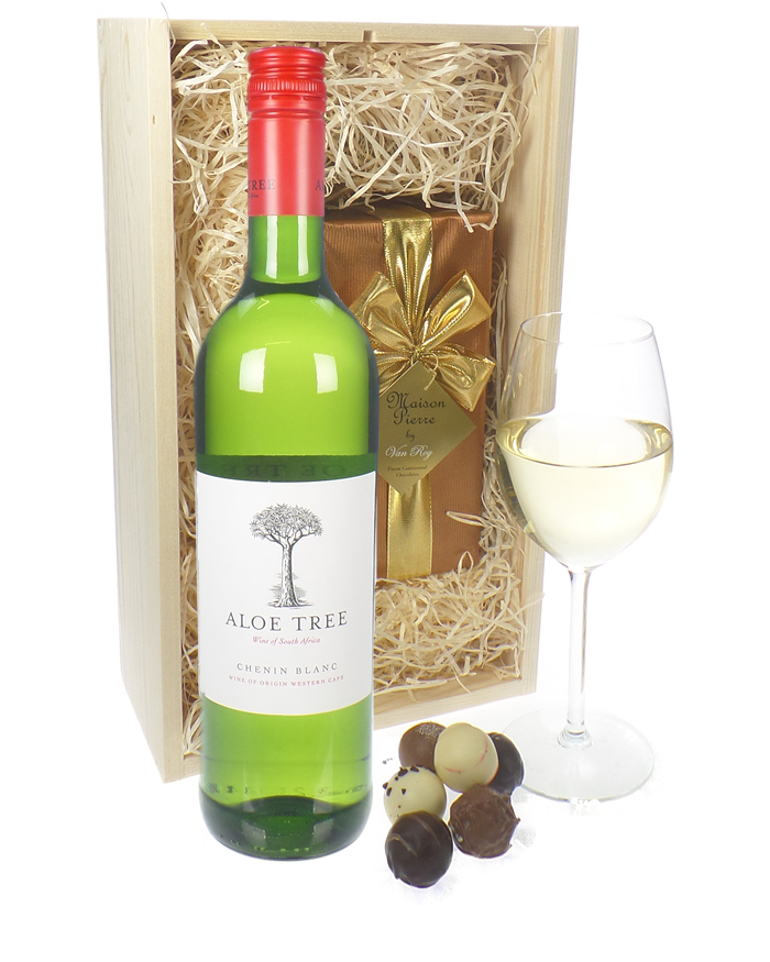 South African White Wine And Chocolates
