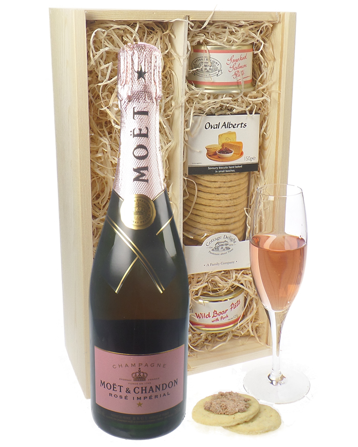 Moet et Chandon Rose Champagne and Pate