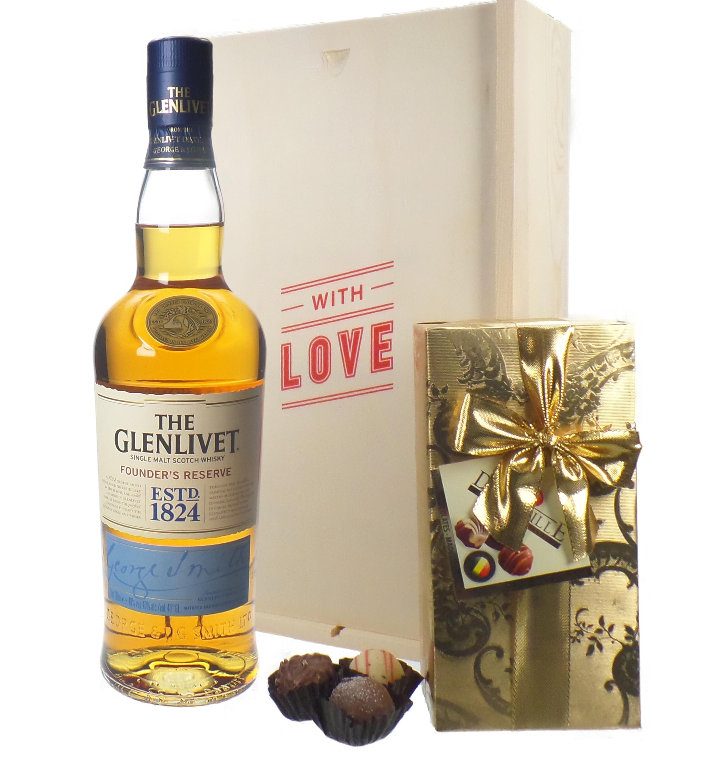 Glenlivet 12 Single Malt Scotch Whisky And Chocolates