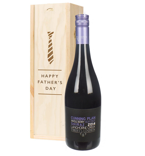 Australian Shiraz Red Wine Fathers Day Gift In Wooden Box