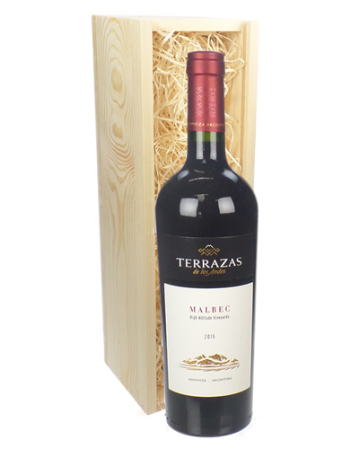Terrazas reserva malbec wine gift in wooden box next day for Next day wine gifts