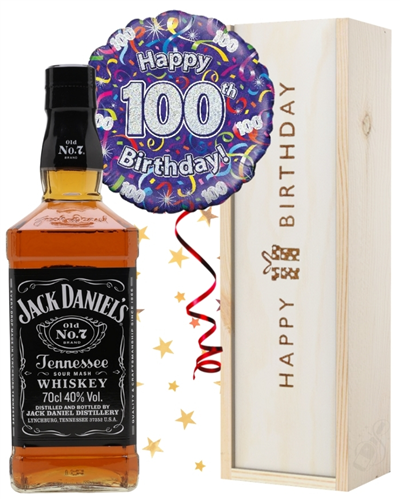 100th Birthday Whiskey and Balloon Gift