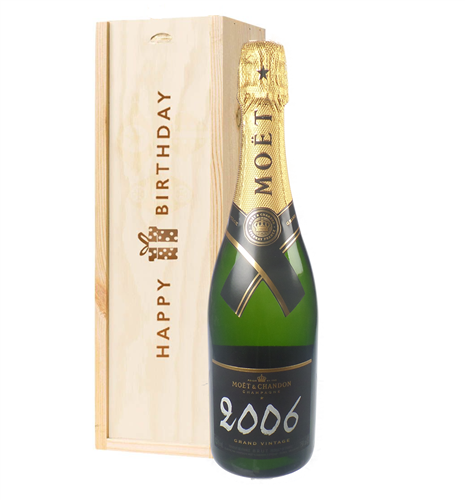Moet et Chandon Vintage Birthday Gift in Wooden Box