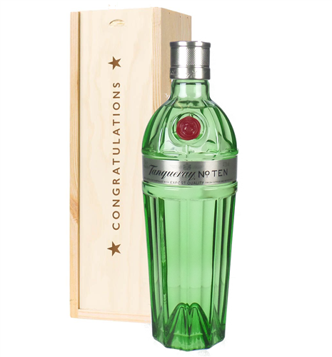 Tanqueray Ten Gin Birthday Gift In Wooden Box